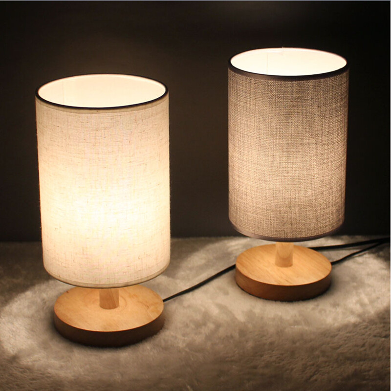 Ikea Wood Linen Led E Table Lamp GD Traders Wholesale Deal - Led table lights for restaurants