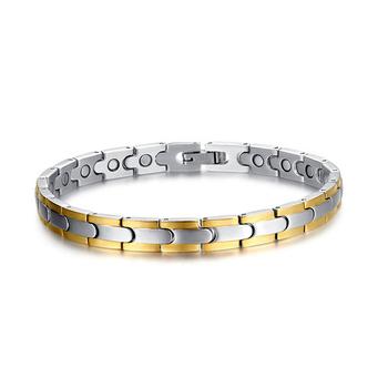 18 К позолоченные мода браслет здоровье украшения энергия магнитные браслеты для ...