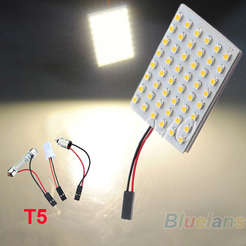 12 24 36 48 LED 3528 SMD Car Light Panel T10 Festoon BA9S Adapter 04ZA