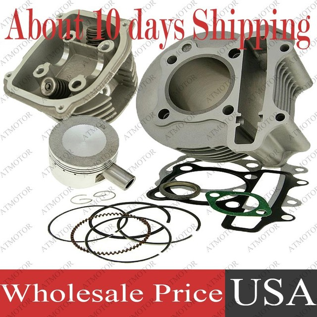 (6 sets a lot) Cylinder Kit with Cylinder Head Assy for GY6 150cc 57.4mm 157QMJ ATV Moped Scooter