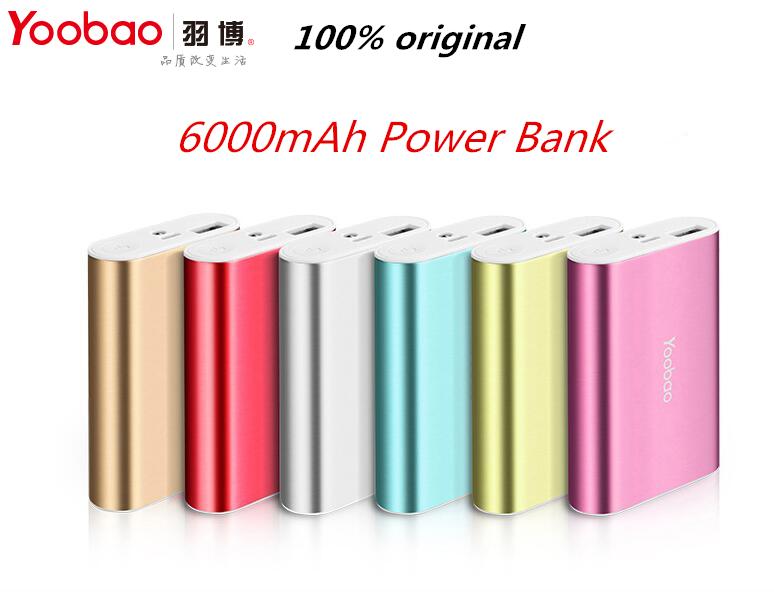 Yoobao Power Bank 6000mAh YB-6023 Portable Power Bank Battery for iphone SE 6s 6 plus HTC Samsung S6 S7 LG HUAWEI P9 XIAOMI max(China (Mainland))
