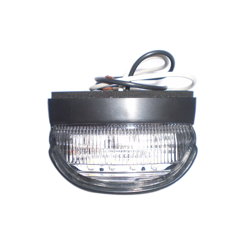 New Round 12/24V LED Number Licence Plate Light Rear Tail Lamp Truck Trailer White(China (Mainland))
