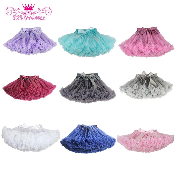 Free Shipping Fluffy Chiffon Pettiskirts Baby 21 Colors tutu skirts girls Princess Dance Party Tulle Skirt  petticoat wholesale(China (Mainland))