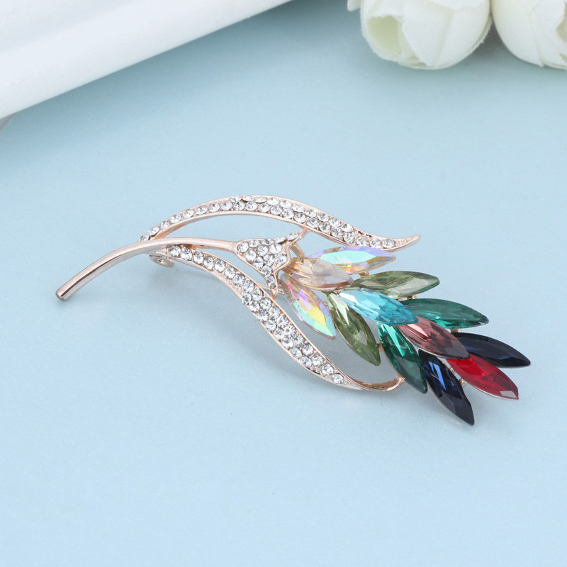 2016 New Fashion Brooch Pins Crystal Rhinestone Brooches Jewelry For Women Scarf Collar Corsage Clips Accessories (AI860020)