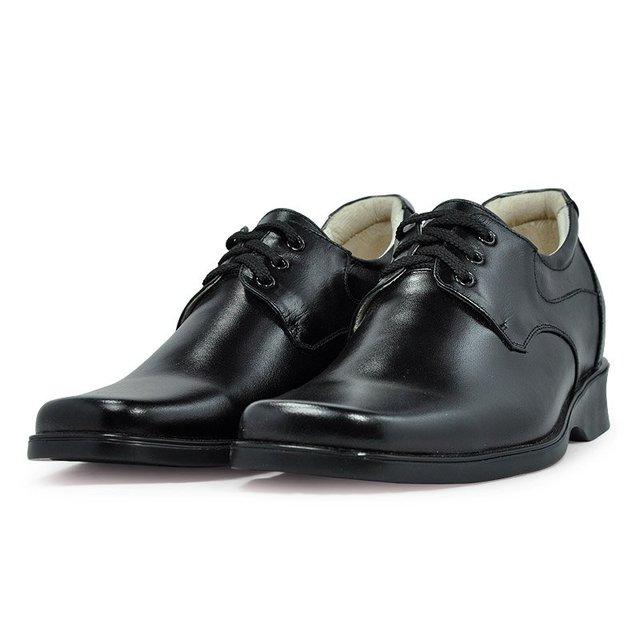 1233- Black  Dress genuine leather shoes for men +handmade  +good quality
