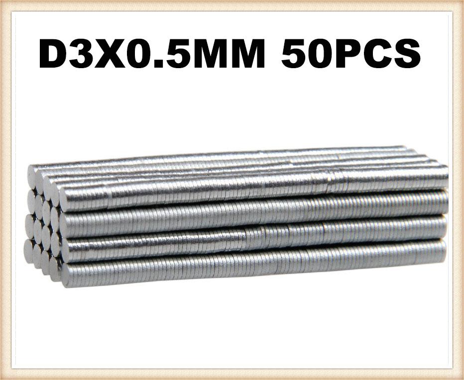 Гаджет  In Stock New 50Pcs tiny Neodymium disk magnets 3mm dia x 0.5mm N35 grade magic wargames Free Shipping None Строительство и Недвижимость
