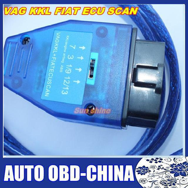 Best quality and lowest price VAG KKL 409 FIAT ECU SCAN USB Cable Alfa Lancia Romeo / Fiat ABS Multi-Function Free Shipping(China (Mainland))
