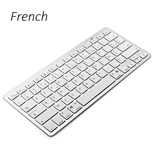 French Version Ultra slim Wireless Keyboard Bluetooth 3.0 for ipad/Iphone/Macbook Free shipping(China (Mainland))