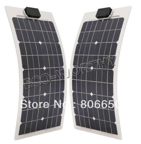 2 pieces 40W 18V semi-flexible solar panel kits for boat RV camping car &Free shipping(China (Mainland))