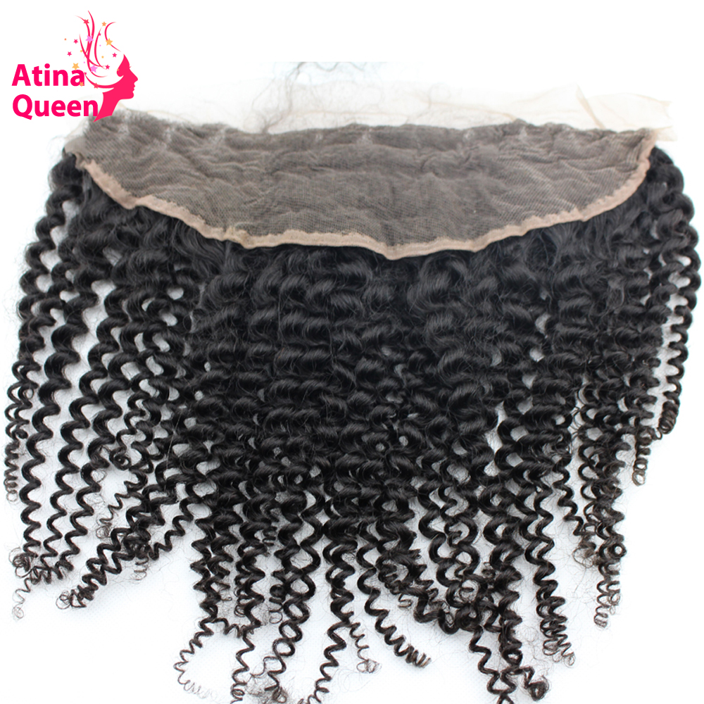 Where to buy hair closures - Order 1 Piece Atina Queen Afro Kinky Curly 13x4 Ear To Ear Lace Frontal Closure With Baby Hair Natural
