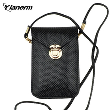 Yianerm PU Leather Universal Mobile Phone Bag Case Cover Pouch fit for less than 6 inches of smartphones(China (Mainland))