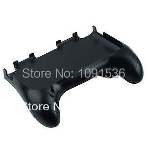 10pcs/lot Game Controller Case Plastic Hand Grip Handle Stand For Nintendo 3DS LL XL Black With Retail Packing box.(China (Mainland))