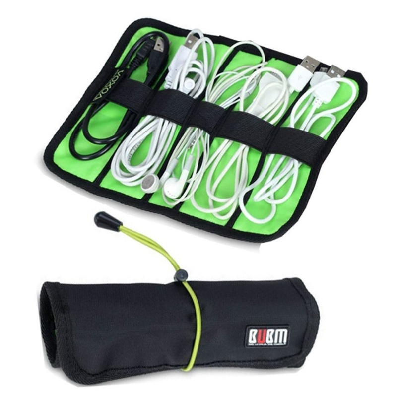 2016 Hot Cable Organizer Bag Mini Size Portable Storage USB Cables Earphone Pen Roll Up()