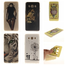 Slim Tiger Lion cartoon animal Soft Gel TPU Case Samsung Galaxy J5(2016) J510 J510F Mobile Phone Rubber silicone Back Cover - Shenzhen SmallTimes Store store