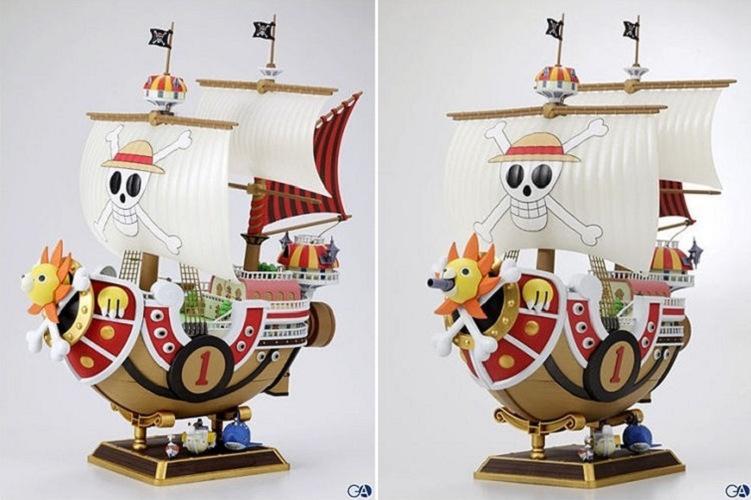 One Piece Japanese Anime Luffy Thousand Sunny Onepiece New World Pirate Ship Action Figure Toys Juguete 28cm PVC Model 0050(China (Mainland))