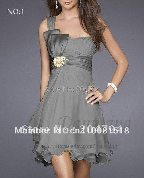 New evening dress wedding dress Formal Prom Party Ball Homecoming gown bridesmaid bridal dress GRAY LF8001