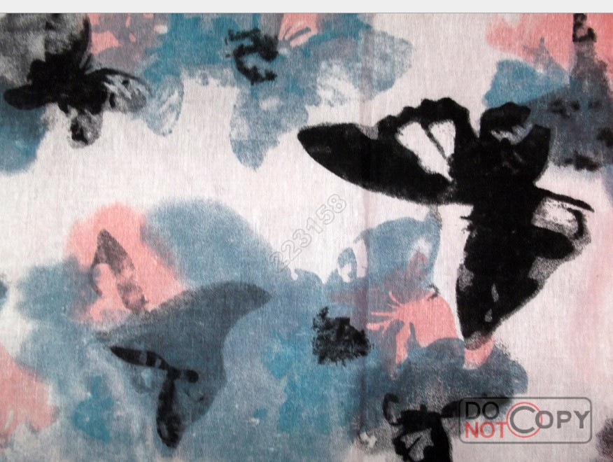 decoration, diy,1.50 meters wide Cotton and linen fabric Ink Butterfly Print style(China (Mainland))
