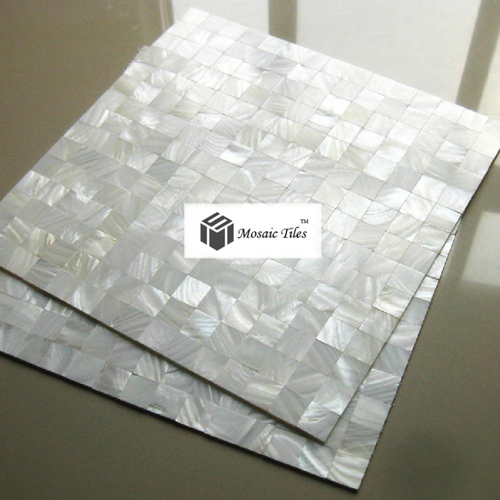 New 2015 mother of pearl mosaic tile kitchen backsplash for 12x12 white floor tile