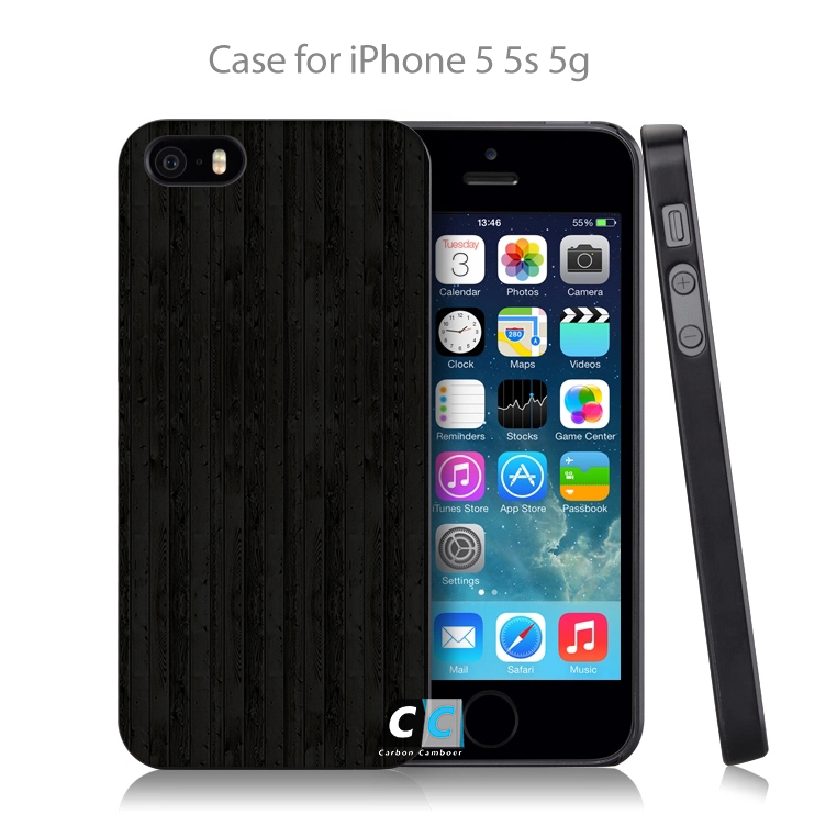 vd51 wooden floor black pattern natural dark Hard Black Case Cover Shell Coque for iPhone 4 4s 4g 5 5s 5g 5c 6 6g 6 Plus(China (Mainland))
