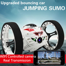 2016 New upgraded Bounce Stunt RC Car 4CH 2.4GHz Jumping Sumo Remote Control with 2.0MP HD WIFI Camera App controll Rc Car Toys(China (Mainland))