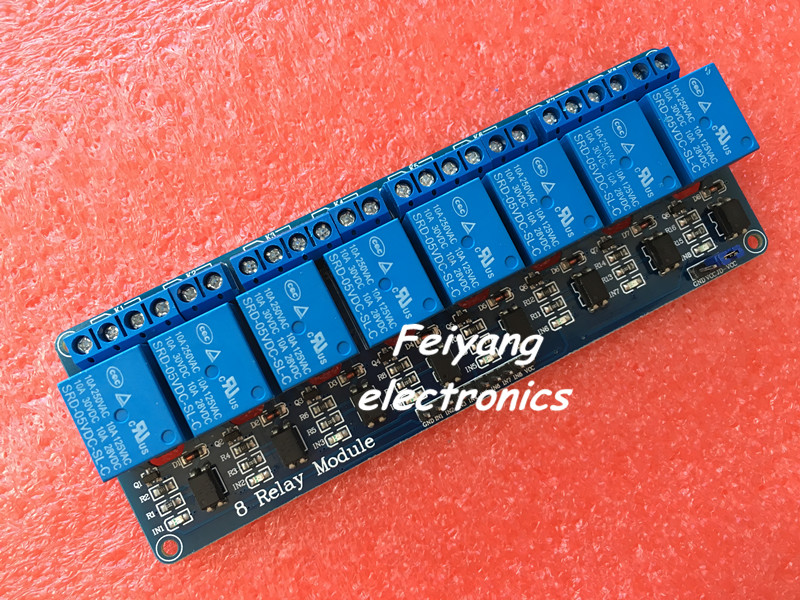 1PCS/LOT 5V 8 Channel Relay Module Board for Arduino PIC AVR MCU DSP ARM Electronic 100% new original(China (Mainland))