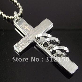 10pcs Free Shipping Stainless Steel Cross Pendant Stainless Steel Necklace Cross Necklace Mens Necklace Fashion Pendant