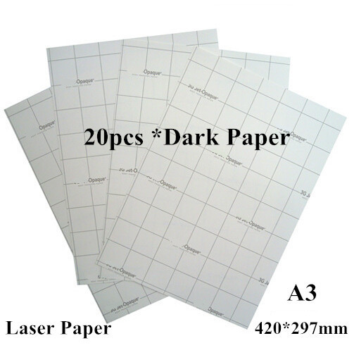 (A3*20pcs) Laser Heat Transfer Printing Paper Dark Iron-on Transfers For Clothes Papel Transfer Thermal Fabric Transfer Paper(China (Mainland))