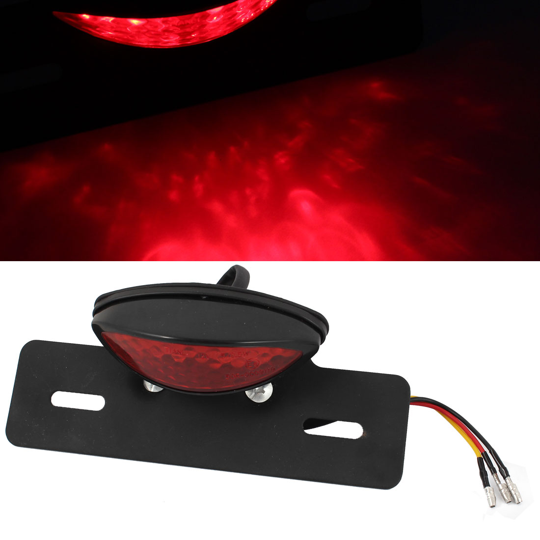 X Autohaux Motorcycle 12V Red 2 Modes 19 Led Tail Light Custom License Plate Holder(China (Mainland))