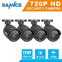 Buy 2016 Hot SANNCE H.265 4PCS 720P TVI CCTV Camera Video Indoor Outdoor IR Night Vision Security Surveillance Bullet Cameras 1.0MP for $109.99 in AliExpress store