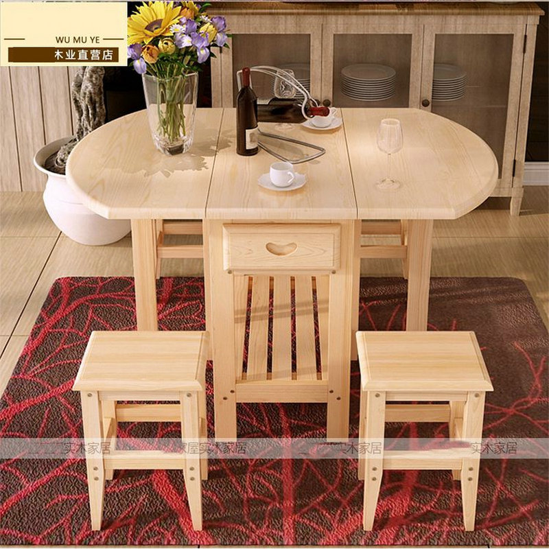 Semi circle foldable coffee dining table with two chairs for Circle furniture dining tables