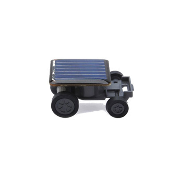 Lovely Solar Power Mini Toy Car Racer The World's Smallest Educational Gadget Children Gift BS88(China (Mainland))