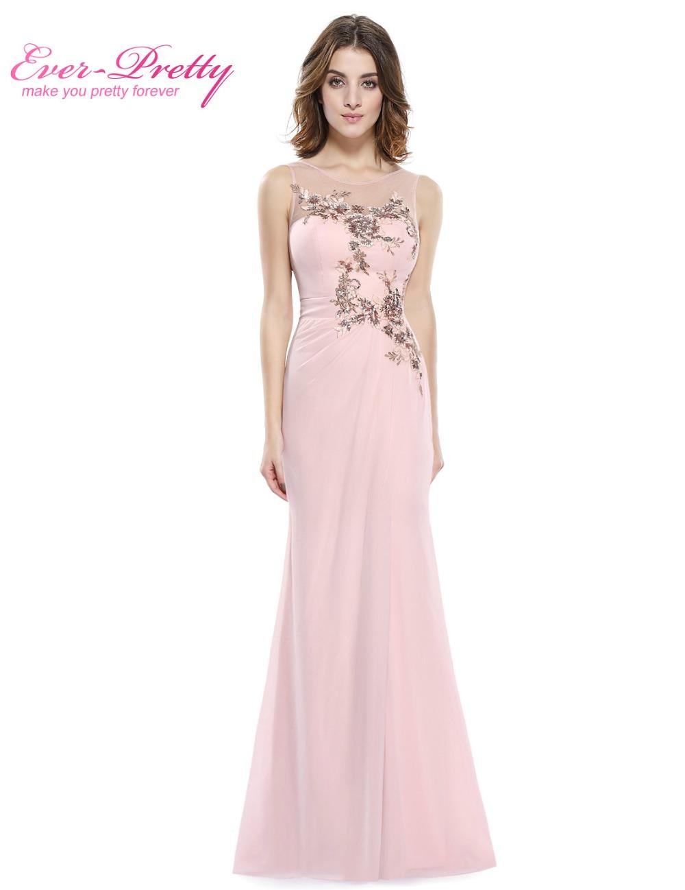Cheap bridesmaid dresses ever pretty he08850 pink chiffon for Ever pretty wedding dresses