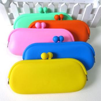 Rubber Silicone Pouch Purse Wallet Glasses Cellphone Cosmetic Coin Bag Case silicone purse bag silicone case for glasses