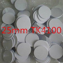 10pcs waterproof 25mm x 1mm RFID PVC coin card with EM4100 compatible chip in access control