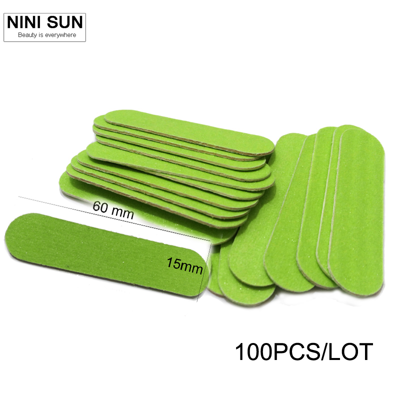 New Fashion Lowest Price 100pcs/lot Nail Files Buffer Buffing Slim Crescent Grit Sandpaper Tools Disposable Cuticle Polish Pack(China (Mainland))