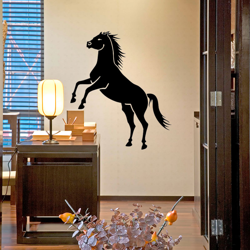 New Removable Black Horse Quote Wall Sticker Mural Decal Home Room Art Decor DIY Decoration JJ006(China (Mainland))
