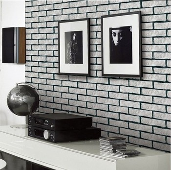 Brick wall rubble 2015 best auto reviews for Grey kitchen wallpaper
