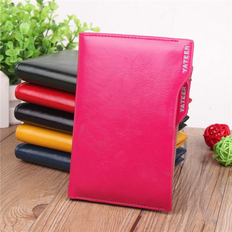 2015 Women Purses Slim Wallet PU Leather Card Holder Fashion Ladies Designer Wallet Clutch Carteiras Femininas Porte Feuille(China (Mainland))