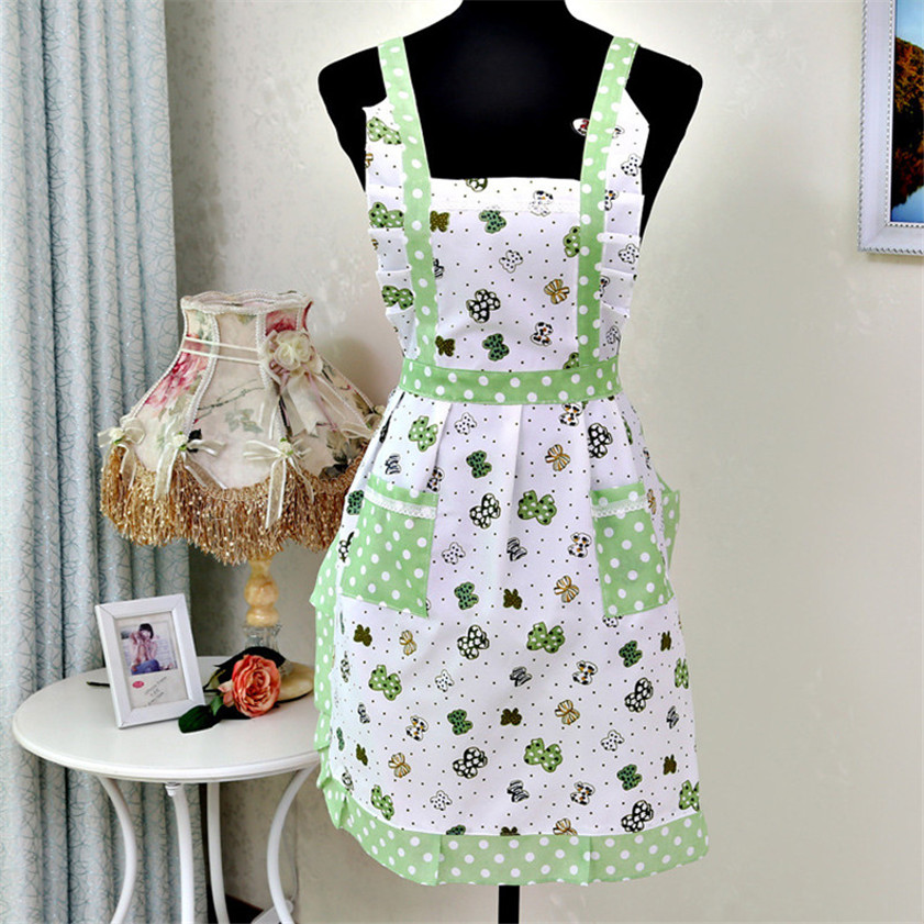 Zero Women Lady Restaurant Home Kitchen For Pocket Cooking Cotton Apron Bib(China (Mainland))