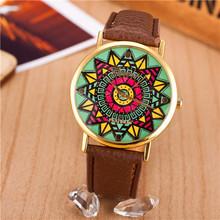 2015 nuevas mujeres del reloj de ginebra del estilo del girasol reloj de cuarzo analógico Casual reloj Relogio Feminino mujeres reloj horario