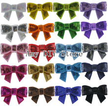 "Free Shipping 1.8"" Mini Sequin Bows With Alligator Clip Baby Girls' Hair Accessories Boutique Sequin Bow Clips For DIY Hair Bows(China (Mainland))"