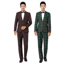 2016 new Photography suit men Korean version of Slim British style. Tartan leisure suit jacket. Stage performances clothing
