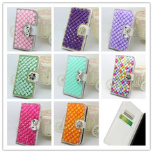 Buy Fashion Bling Crystal Diamonds Pearls wallet leather Case Cover Skin SamsungGalaxy K Zoom C1158 for $7.89 in AliExpress store