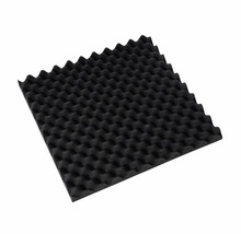 36pcs/lot 50*50*2.5cm flame retardant black egg shell shape acoustic panel recording studio soundproof sponge foam(China (Mainland))