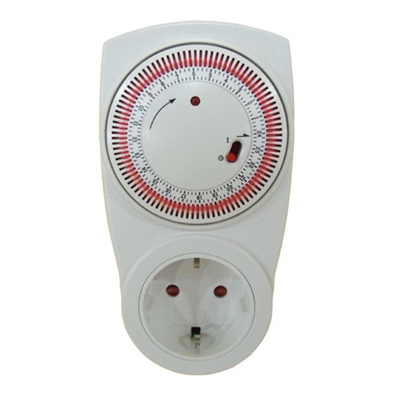110-125v electronic digital timer kitchen timer switch socket Converters EU plug  white programmable digital timer