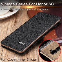 huawei honor play 5c case cover flip huawei honor 5C case 5.2inch leather cover honor5c luxury gold original fundas thin(China (Mainland))