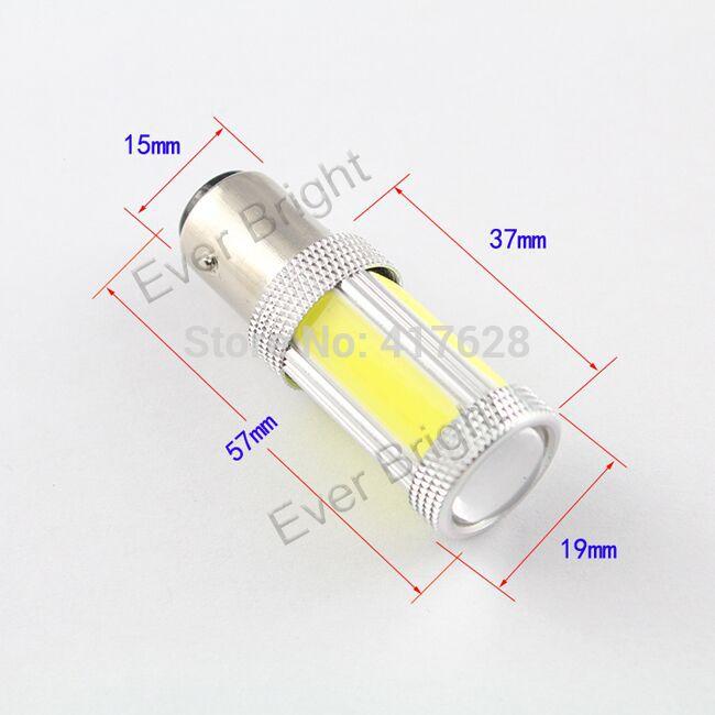 free shipping! 4PCS 12V/24V High power COB Turn Lamps S25 COB Led Auto Signal lights Reversing Light Instrument Turn Lamps(China (Mainland))