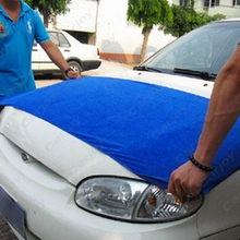 Free shipping - 1pcs Large 60x160CM Blue Microfiber Towel Car/Auto Wash Cleaning Polish Cloth #CA5427(China (Mainland))