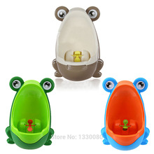 New Arrival Stylish PP Frog Children Stand Vertical Urinal Wall-Mounted Urine Groove Baby Urinal Free Shipping FEN#