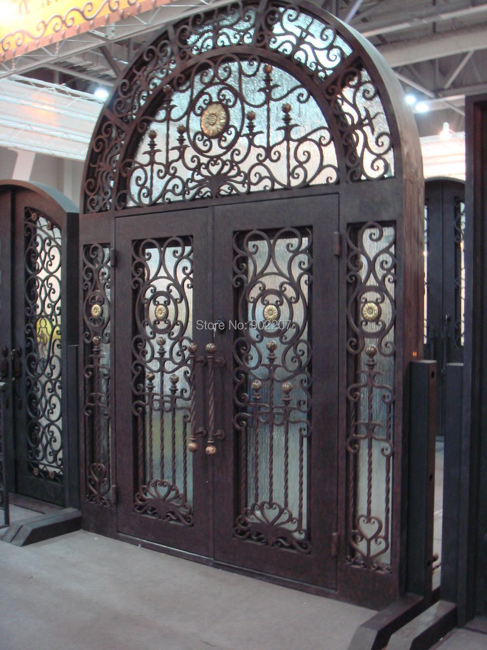 Custom design wrought iron door iron doors,large wrought iron entry door(China (Mainland))